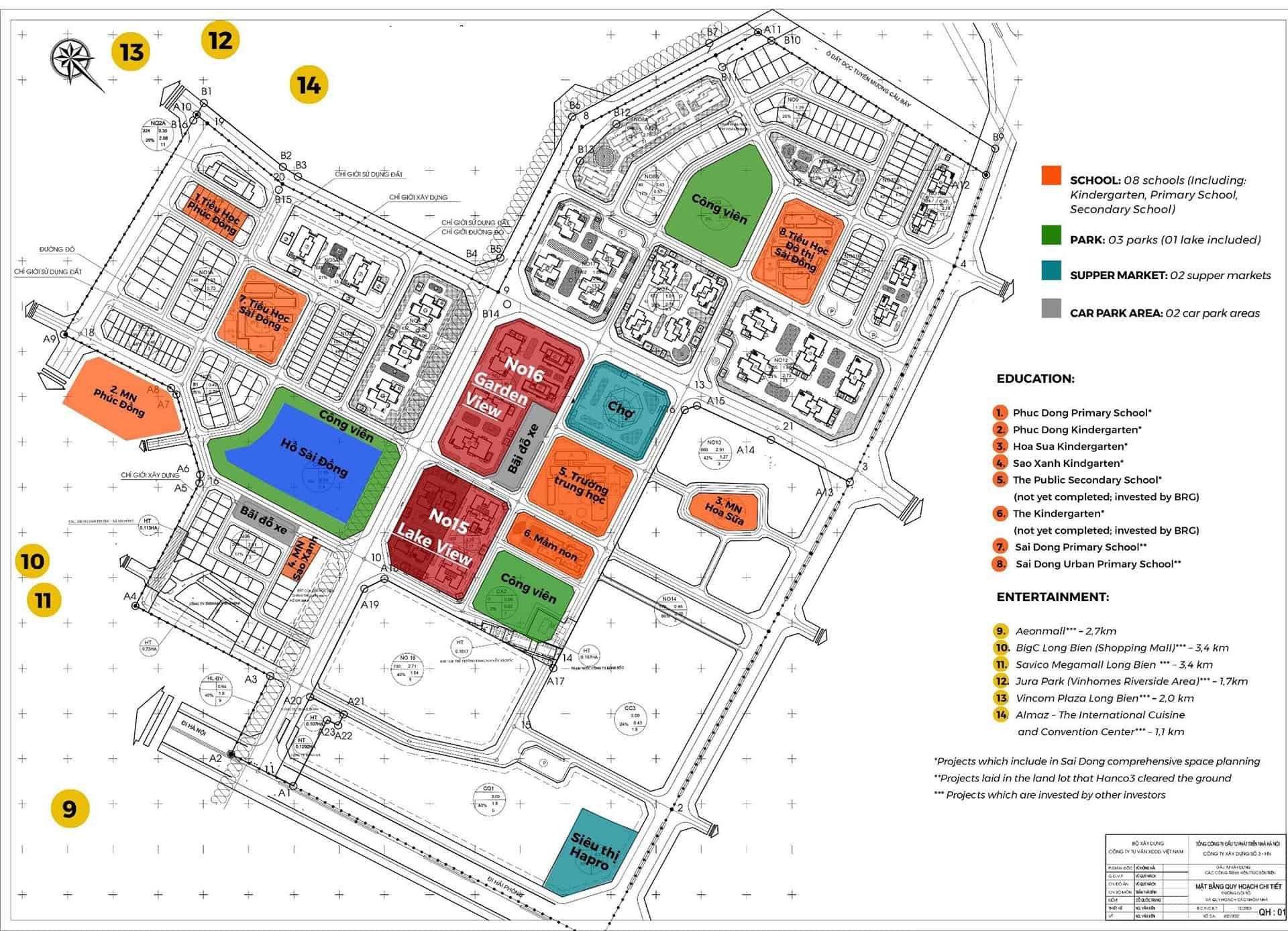 quy hoạch dự án chung cư le grand jardin no15 no16 sai đồng long biên BRG Group