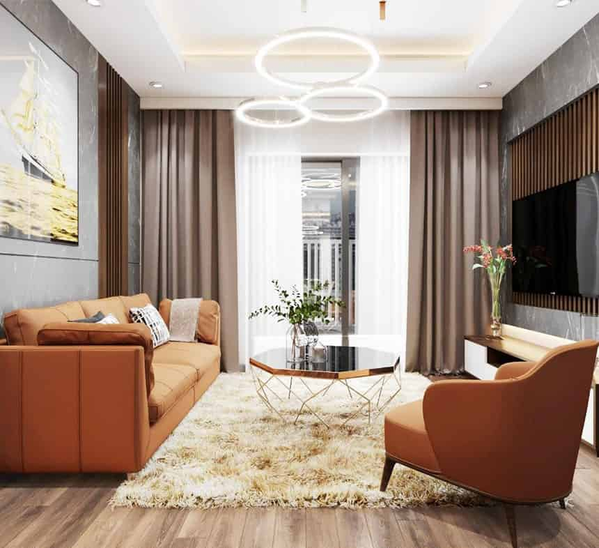 thiết kế căn hộ 2 phòng ngủ chung cư Le Grand Jardin no15 no16 Sài Đồng BRG Group