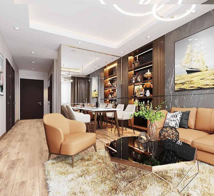 thiết kế căn hộ 3 phòng ngủ chung cư Le Grand Jardin no15 no16 Sài Đồng BRG Group