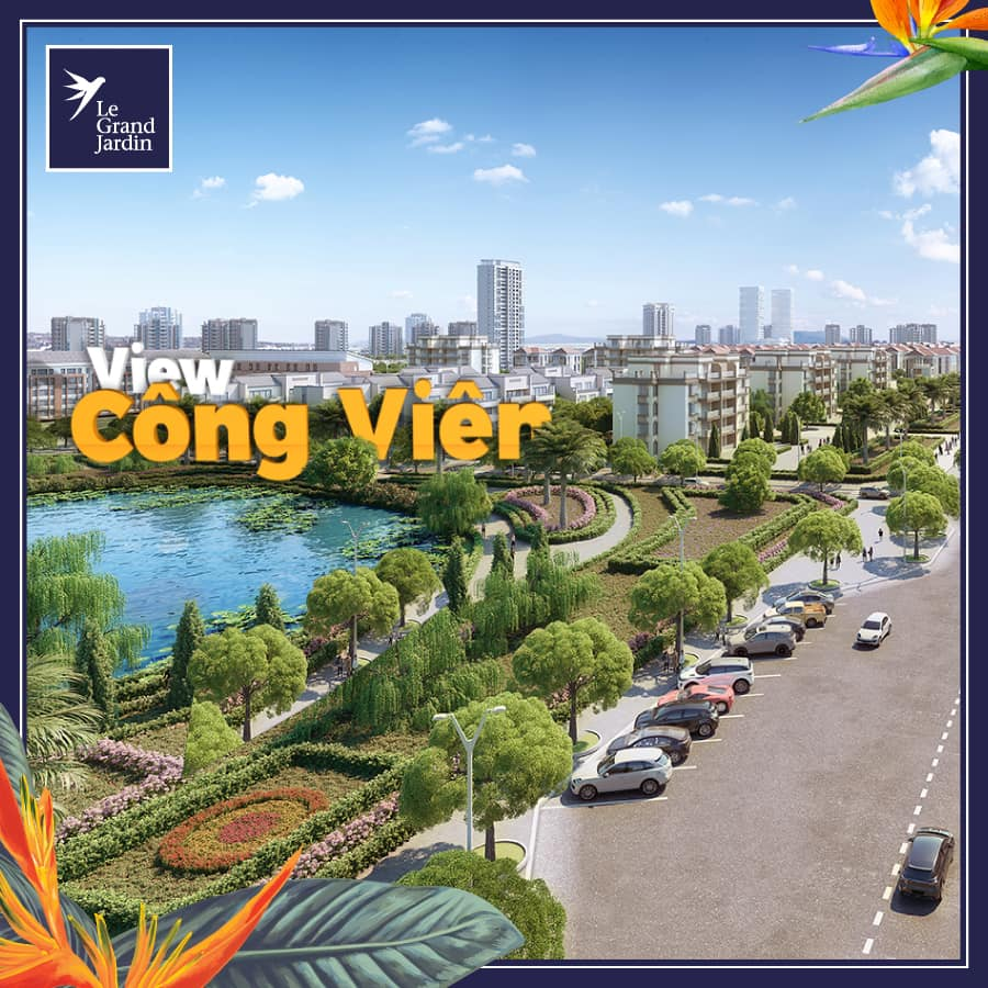 Huong view ho dieu hoa tai du an le grand jardin sai dong brg group