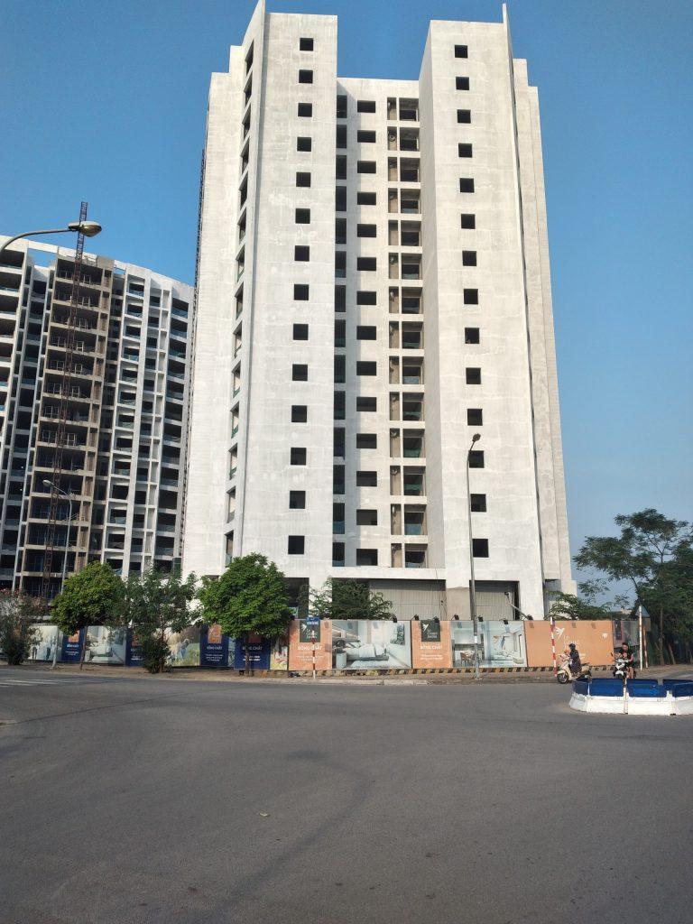 Tiến độ xây dựng tòa G1 dự án Le Grand Jardin Sài Đồng