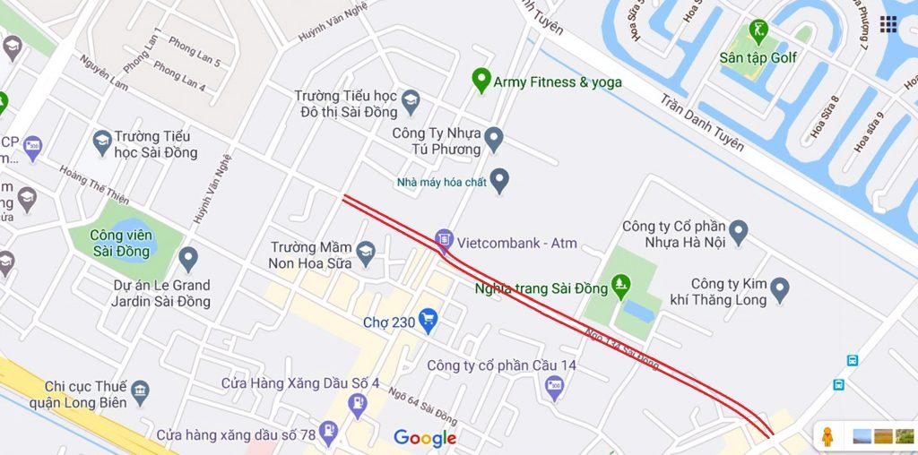 Quy hoạch đường Nguyễn Lam nối thẳng với phố Sài Đồng